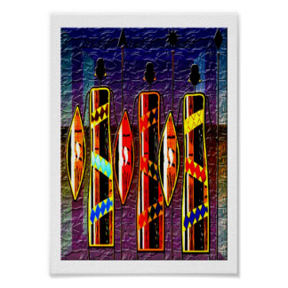 African Wise Men Poster