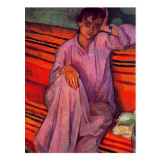 African Woman By Emile Bernard Postcard