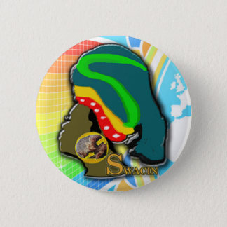 African Woman in the Rainbow 2 Inch Round Button