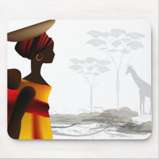 African woman mouse pad