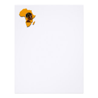 African Woman on the Continent Letterhead Design