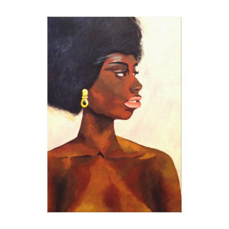 African Woman portrait of June (K.Turnbull Art) Canvas Print