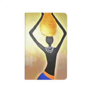 African Woman with Jar on Head Journal