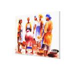 African Women by Mojisola A Gbadamosi Okubule Canvas Print