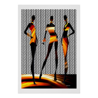 African Women Fashion Burning Hot Poster