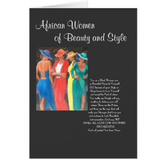 African Women Greeting Card