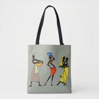 African women illustration tote bag