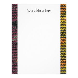 African Woven Straw Mat Letterhead