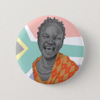 African young woman 2 inch round button