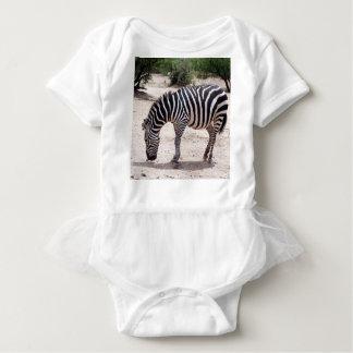 African zebra at the zoo baby bodysuit