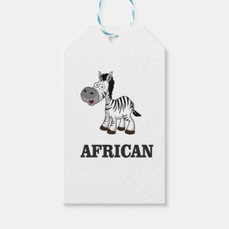 African Zebra Gift Tags