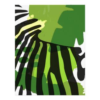 African Zebra Letterhead Template