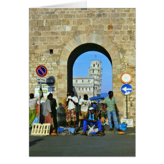 Africans in Pisa, Italy Card