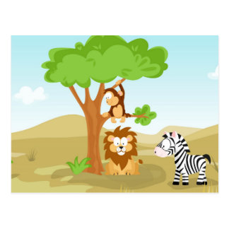 Afrika from my World animal series Postcard