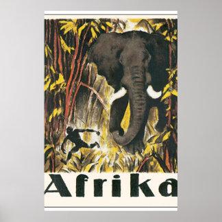 Afrika Vintage Travel Poster