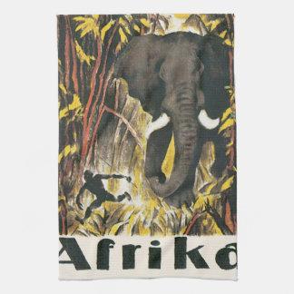 Afrika Vintage Travel Poster Kitchen Towel