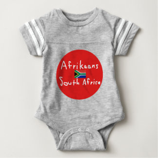Afrikaans South Africa Language And Flag Baby Bodysuit
