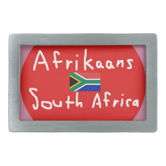 Afrikaans South Africa Language And Flag Belt Buckle