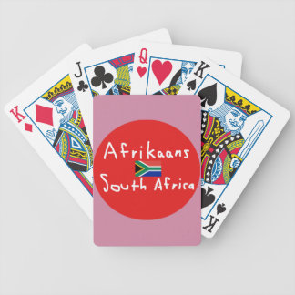 Afrikaans South Africa Language And Flag Bicycle Playing Cards