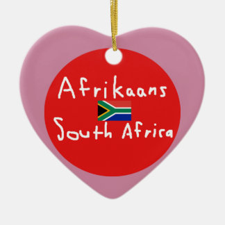 Afrikaans South Africa Language And Flag Ceramic Ornament