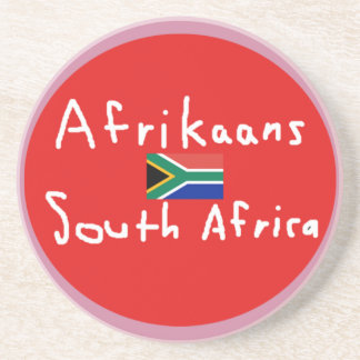 Afrikaans South Africa Language And Flag Coaster
