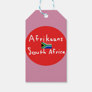 Afrikaans South Africa Language And Flag Gift Tags