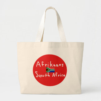 Afrikaans South Africa Language And Flag Large Tote Bag