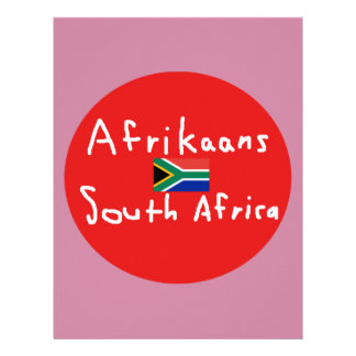 Afrikaans South Africa Language And Flag Letterhead