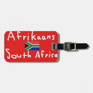 Afrikaans South Africa Language And Flag Luggage Tag