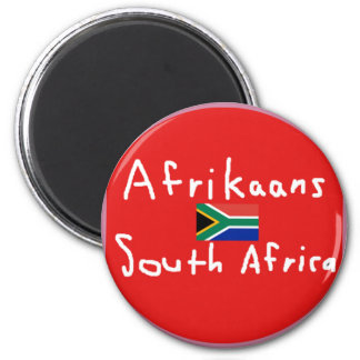 Afrikaans South Africa Language And Flag Magnet