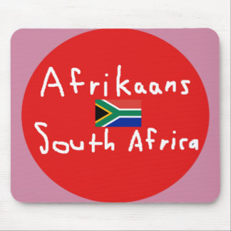 Afrikaans South Africa Language And Flag Mouse Pad