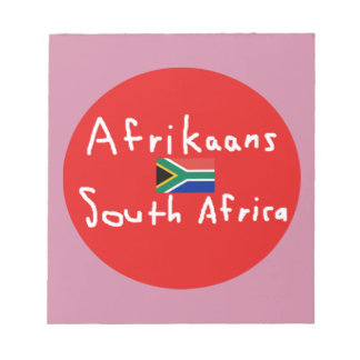 Afrikaans South Africa Language And Flag Notepad