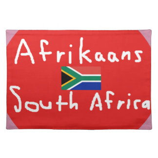 Afrikaans South Africa Language And Flag Placemat