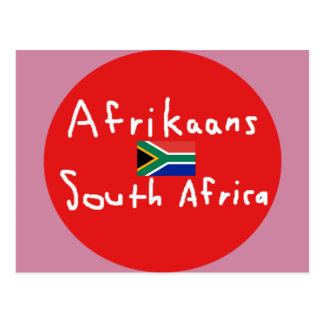 Afrikaans South Africa Language And Flag Postcard