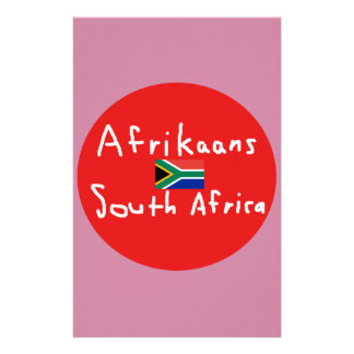 Afrikaans South Africa Language And Flag Stationery