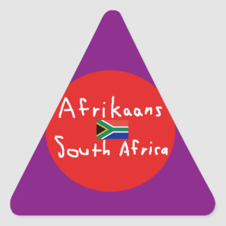 Afrikaans South Africa Language And Flag Triangle Sticker