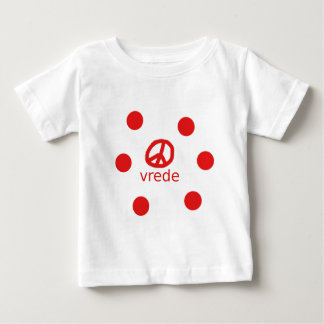 Afrkaans South Africa Peace Symbol Baby T-Shirt