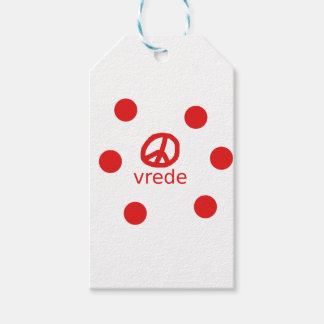 Afrkaans South Africa Peace Symbol Gift Tags