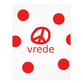 Afrkaans South Africa Peace Symbol Letterhead