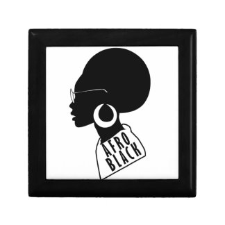 AFRO African American Black gift t shirt Gift Box