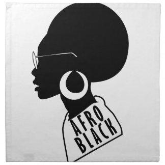 AFRO African American Black gift t shirt Napkin
