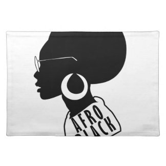 AFRO African American Black gift t shirt Placemat