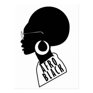 AFRO African American Black gift t shirt Postcard