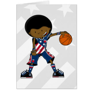 Afro Basketball Player Card