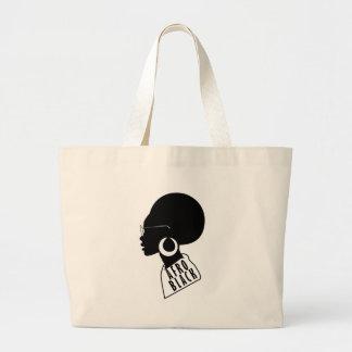 AFRO black design Large Tote Bag