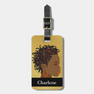 Afro Braids Twists Luggage Tag