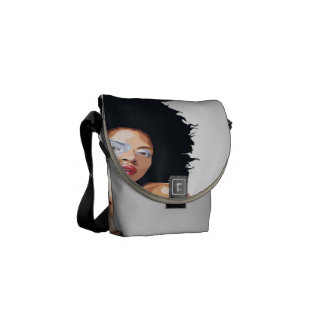Afro-centric Mini Messenger Bag