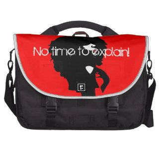 Afro chic natural hair illustration commuter bag