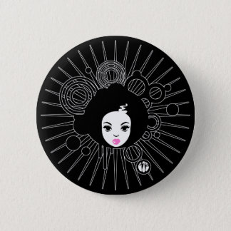 Afro Chick 2 Inch Round Button