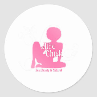 Afro Chick Pk Natural Beauty Classic Round Sticker